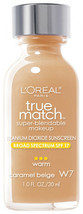 L'oreal True Match Super Blendable Makeup SPF 17 - W7 Carmel Beige - $6.89