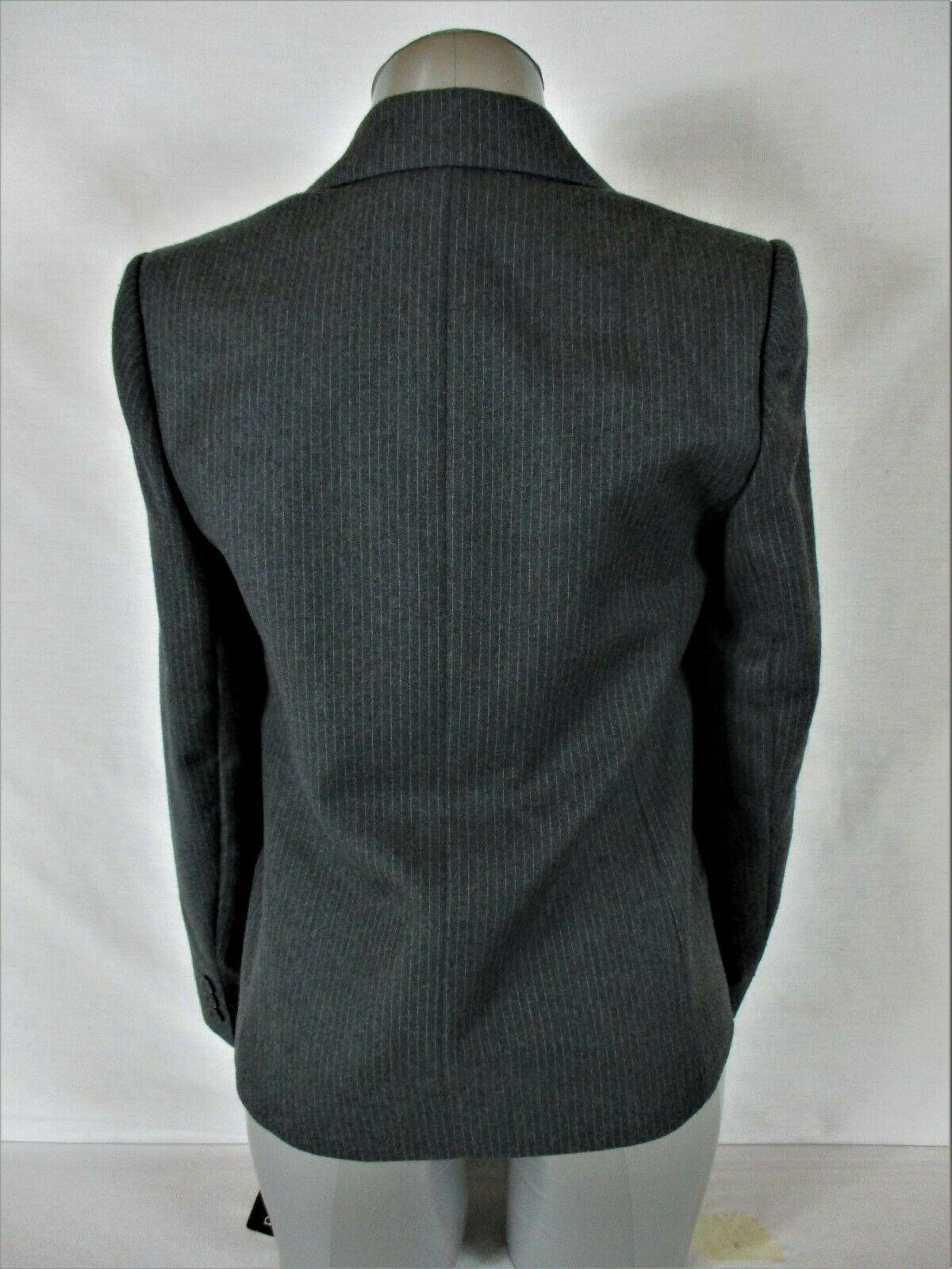 HARVE BENARD womens Sz 6 L/S gray white 100% WOOL fully lined jacket NWT (B4)