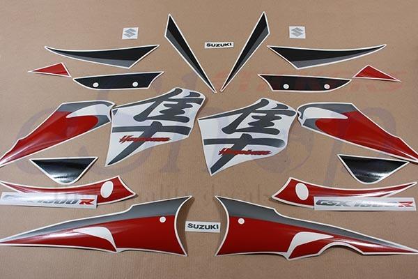 Suzuki gsx 1300r hayabusa 2005 2006 dark red decals img 5451