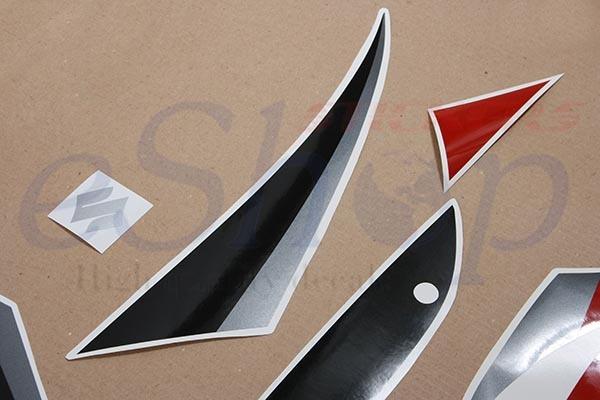 Suzuki GSX 1300R Hayabusa 2005 2006 Dark Red Black decals set stickers kit