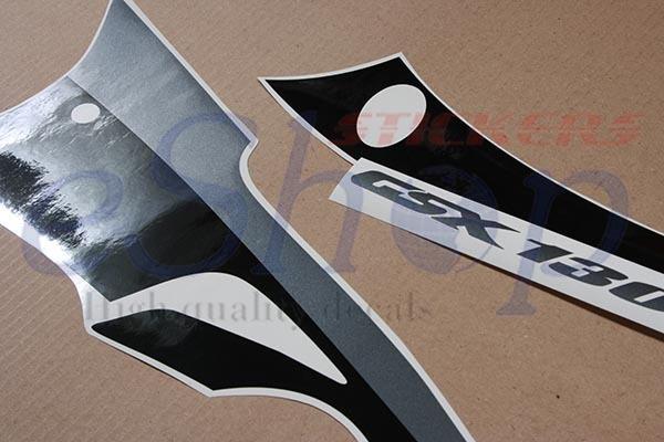 Suzuki GSX 1300R Hayabusa 2005 2006 Black red decals full set stickers kit