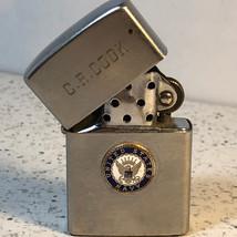 VINTAGE MILITARY LIGHTER CREST-CRAFT usn Navy Vietnam era CR Cook silver... - $64.35