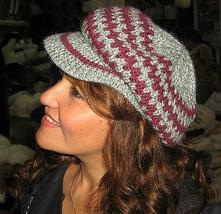 Hat peaked cap news boy style made of  Alpacawool  - $21.00