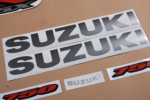 Suzuki GSX-R 750 2007 K7 Black/Grey version Full custom decals stickers set kit