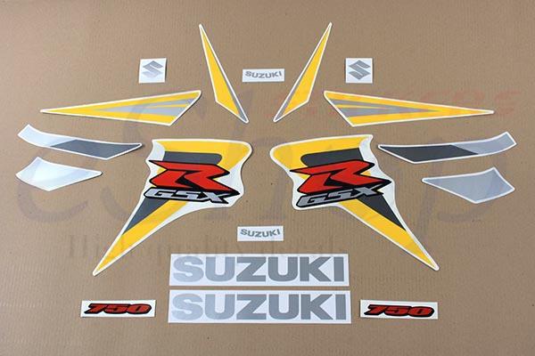 Suzuki gsx r 750 2006 k6 2007 k7 decals