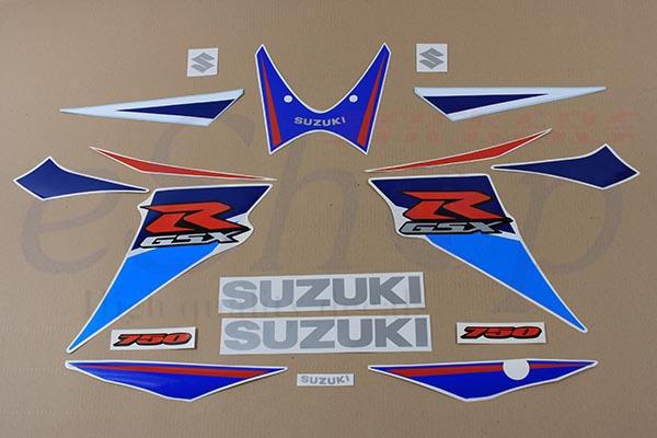 Suzuki gsxr 750 2006 2007 k6 k7 set decals img 6147