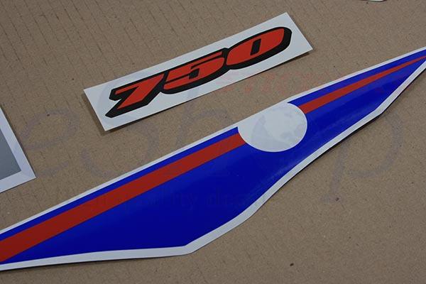 Suzuki GSX-R 750 2006 K6 2007 K7 Blue/W version full decals stickers set kit
