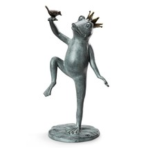 Adorable Whimsical Royal Dance Frog w/Crown Garden Sculpture/Statue,22''H. - $152.46