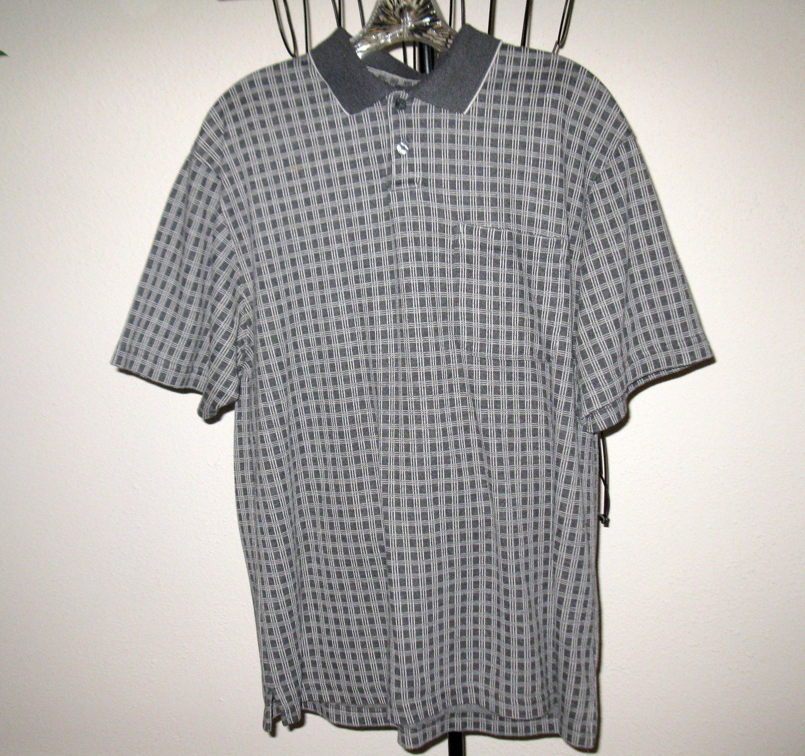 T846 grey golf shirt