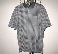 Grey Plaid Men's Golf Shirt by Van Heusen Size M (Medium) Nice! #T846 - $9.99
