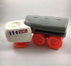 Vintage Little Tikes Tanker Truck LT-1 Toy Plastic Gray and White Orange... - $9.05