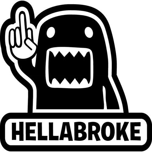 DECAL-STYLE - 16.2CMx16CM Hellabroke Stance Decal Funny Car Sticker JDM Racing V