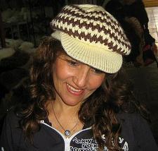 Wool Hat, peaked cap made of alpaca wool, - $22.00