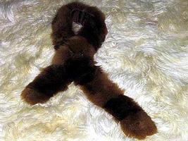 Brown Babyalpaca fur stola, fur scarf,neck scarf  - ₨5,262.01 INR
