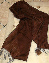 Scarf, shawl, mix Babyalpaca wool and Silk fabric  - $79.00