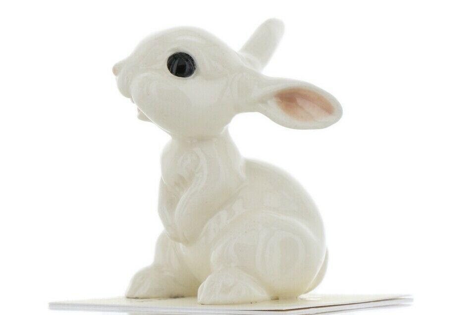 Hagen Renaker Miniature Rabbit White Bunny Ceramic Figurine