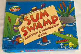 SUM SWAMP Learning Resources MATH BOARD GAME Addition/Subtraction EDUCAT... - $15.44