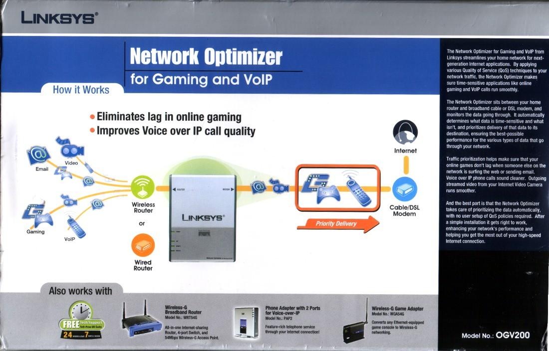 Linksys Network Optimizer OGV200 (Like Hawking HBB1)
