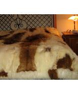 Fur bedspread,Babyalpaka Fur, Queen size coverlet - $1,250.00