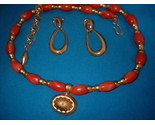 Orange and gold necklace full thumb155 crop
