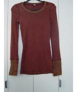 Free People Studded Cuff Thermal in Wine (Size: Medium) EUC - $115.00