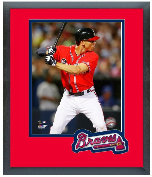 Andrelton Simmons 2014 Atlanta Braves - 11 x 14 Team Logo Matted/Framed Photo