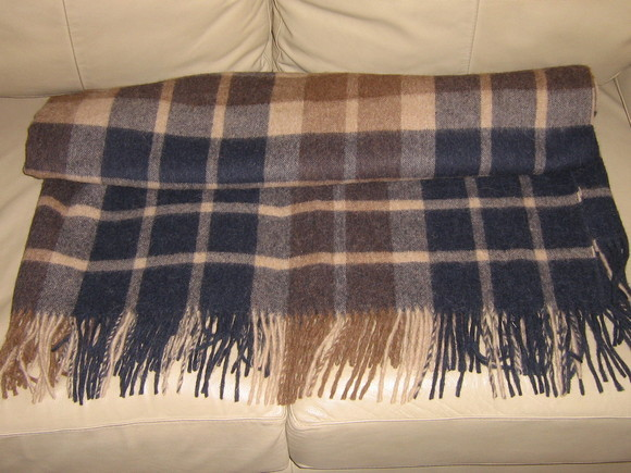 Blanket made of alpacawool,plaid bedspread, coverlet