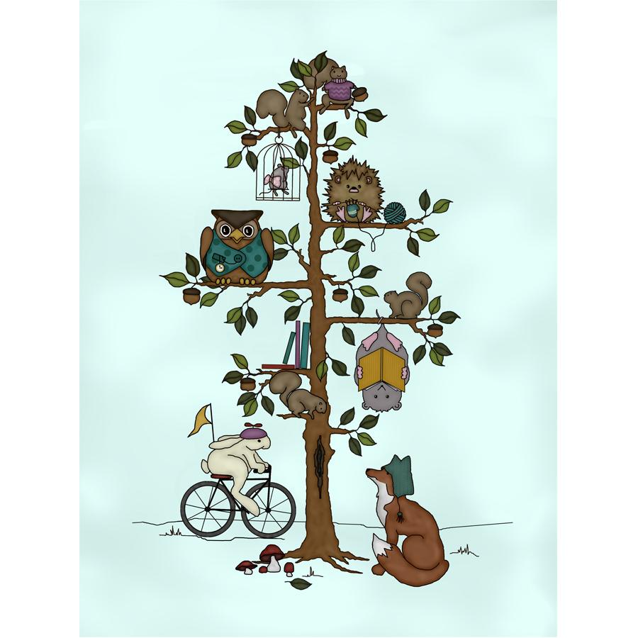 Woodland Hedgehog Woodland Whimsy #2 framed version cross stitch chart JABC