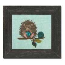 Woodland Hedgehog Woodland Whimsy #2 framed version cross stitch chart JABC - $12.00