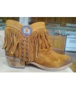 NEW Sam Edelman Fringe Boho Ankle Boots Whiskey 8.5 - $59.96