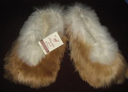 Babyalpaca Fur, Slippers, house shoe, bed shoe