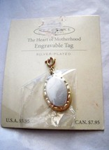 "Hallmark Keepsake The Heart of Motherhood silver plated charm Tag 1.25"" x .75"" - $7.91"