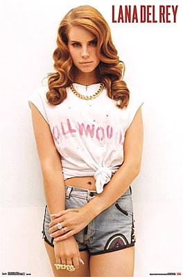 Lana del rey poster 24x36 hollywood full color pin up other for Lana del rey coloring pages