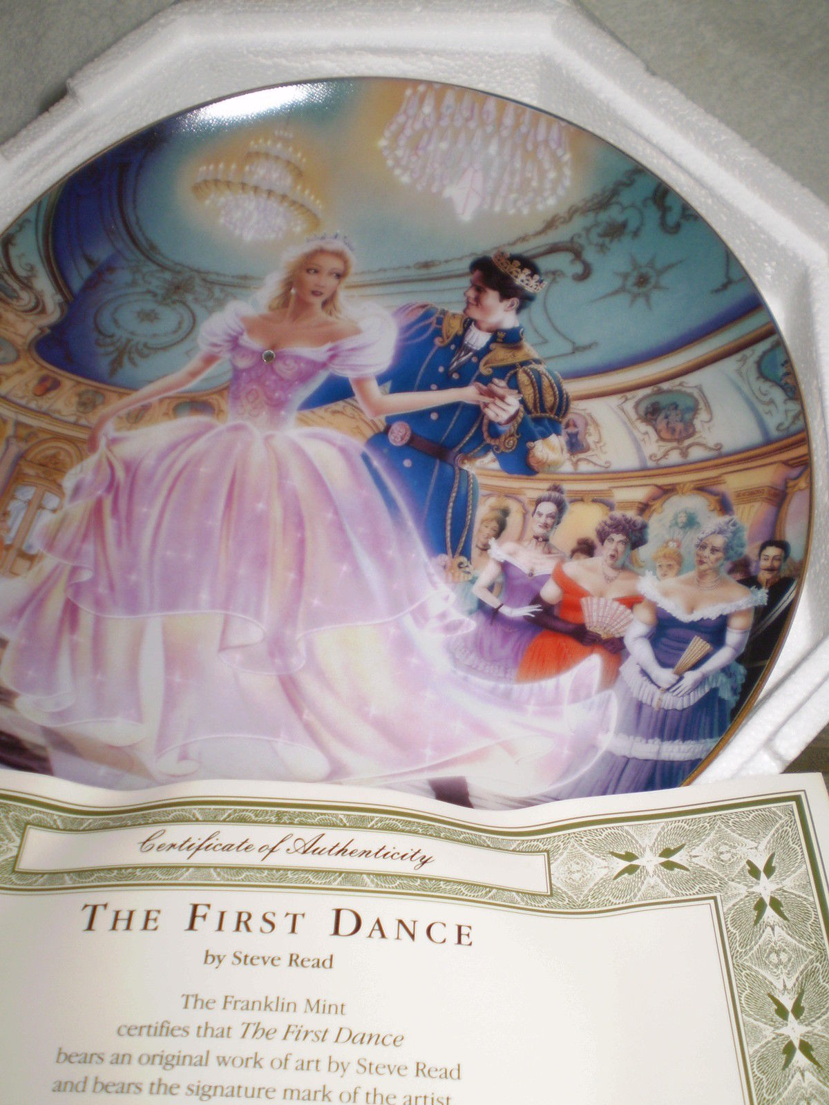Cinderella  'The First Dance'  Collectors Plate