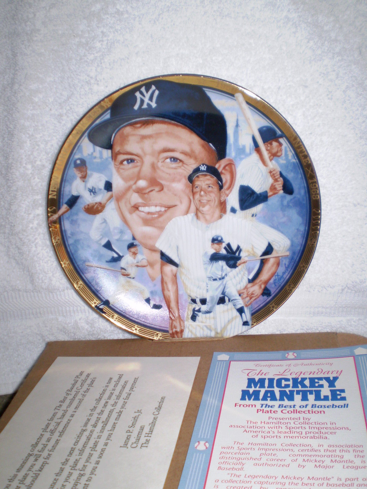 Mickey Mantle 1993 Presented by The Hamilton Collection