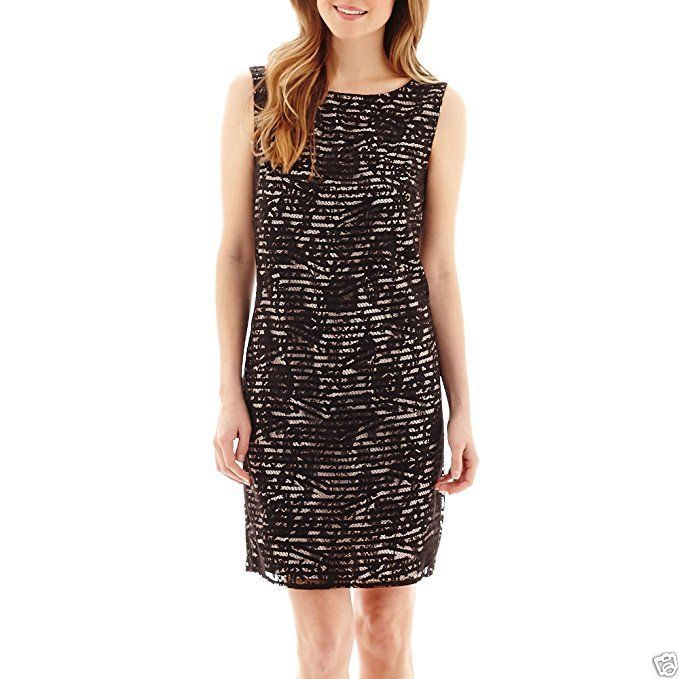 Primary image for Stella Parker Sleeveless V-Back Lace Sheath Dress Size 2 New Msrp $70.00