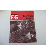 Northrop F-5 Technical Digest Fighter Aircraft Cold War USAF War Militar... - $28.44
