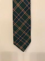 "Gap Men's Plaid Tie Tartan 4""x 60"" Green Rayon Wool Blend - $9.89"