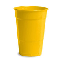16 oz Solid Plastic Cups School Bus Yellow/Case of 240 - $64.35
