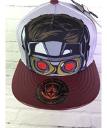 Marvel Guardians Of The Galaxy Star Lord Snapback Hat Cap Faux Leather B... - $40.19
