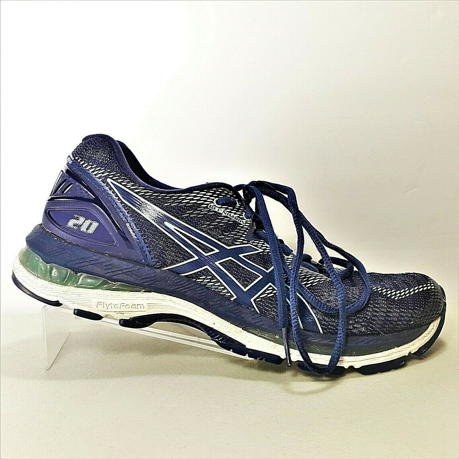Primary image for ASICS Gel-Nimbus 20 Womens Navy Blue & Teal Athletic Shoes T850N Size 8.5 US