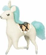 "7"" Felt Decorative Unicorn Blue Hair - $13.00"