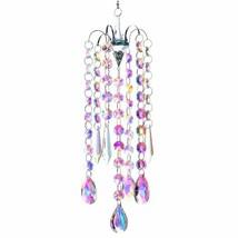 Chandelier Wind Chimes Coating Crystal Hanging Rainbow Maker Window Curt... - $40.58
