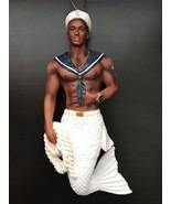 December Diamonds black merman mermaid ornament Navy Soul African Americ... - $36.99