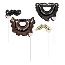 Facial Hair Balloon Photo Props 4 Designs, Case of 24 - $46.71