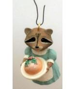 Hallmark 1991 Plum Delightful Tender Touches Racoon Christmas Ornament N... - $6.92
