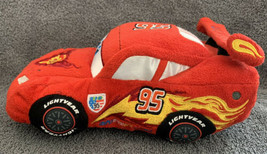 "Disney Pixar- Cars 2- Lightning McQueen Bean Bag Plush Toy Doll 8"" (EUC) - $8.87"