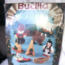 Incomplete 1993 Bucilla Best of the West Kit 10 Plastic Ornaments Partially used - $14.99