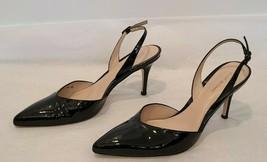 "STUART WEITZMAN Black Patent Leather ""Sleek"" Slingback Pumps - Size 10M - $197.99"