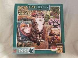 Catology Hemingway Jigsaw Puzzle 1000 Pieces MasterPieces Geoffrey Tristram - $14.00